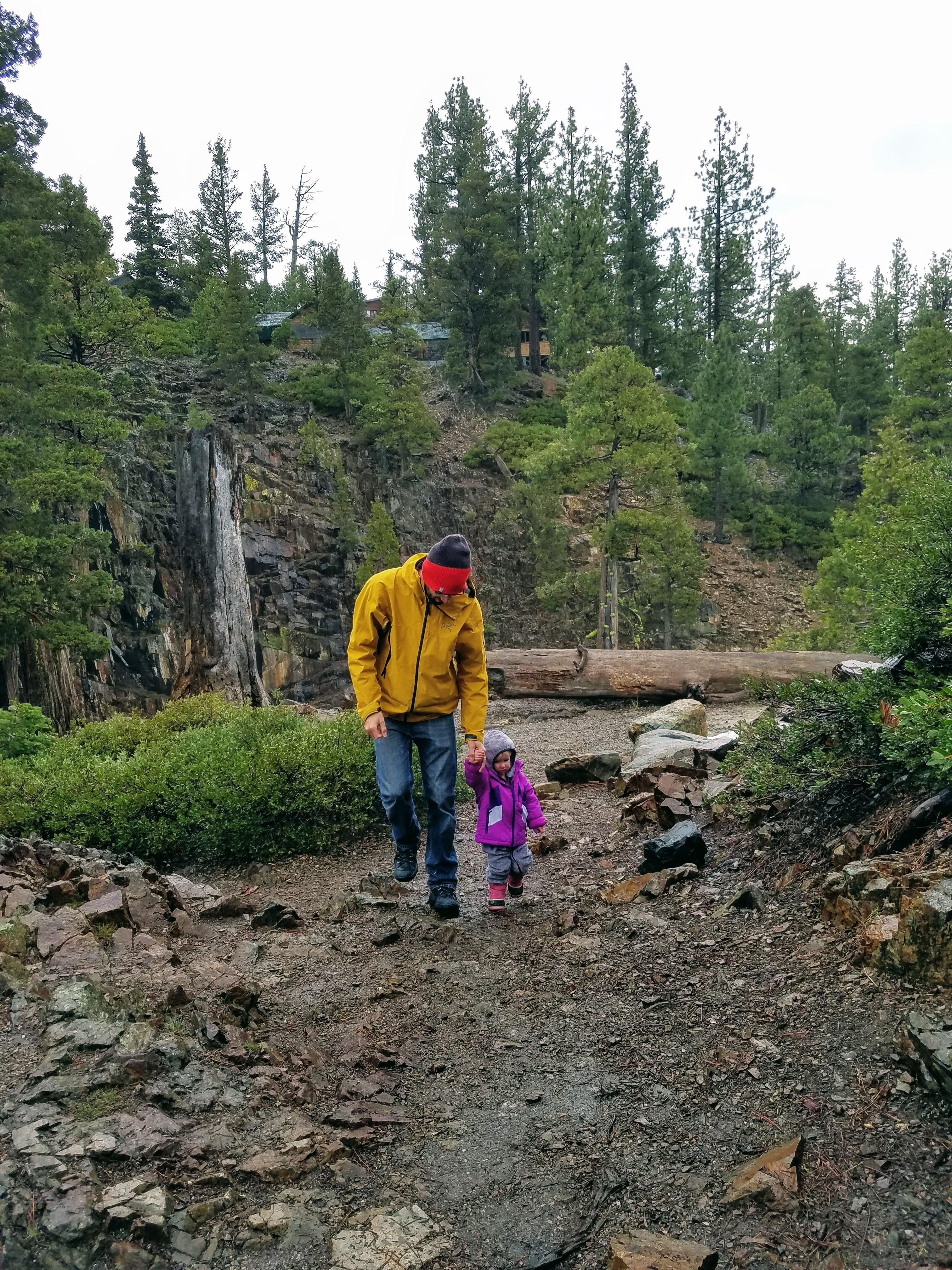 Glen Alpine Falls trail
