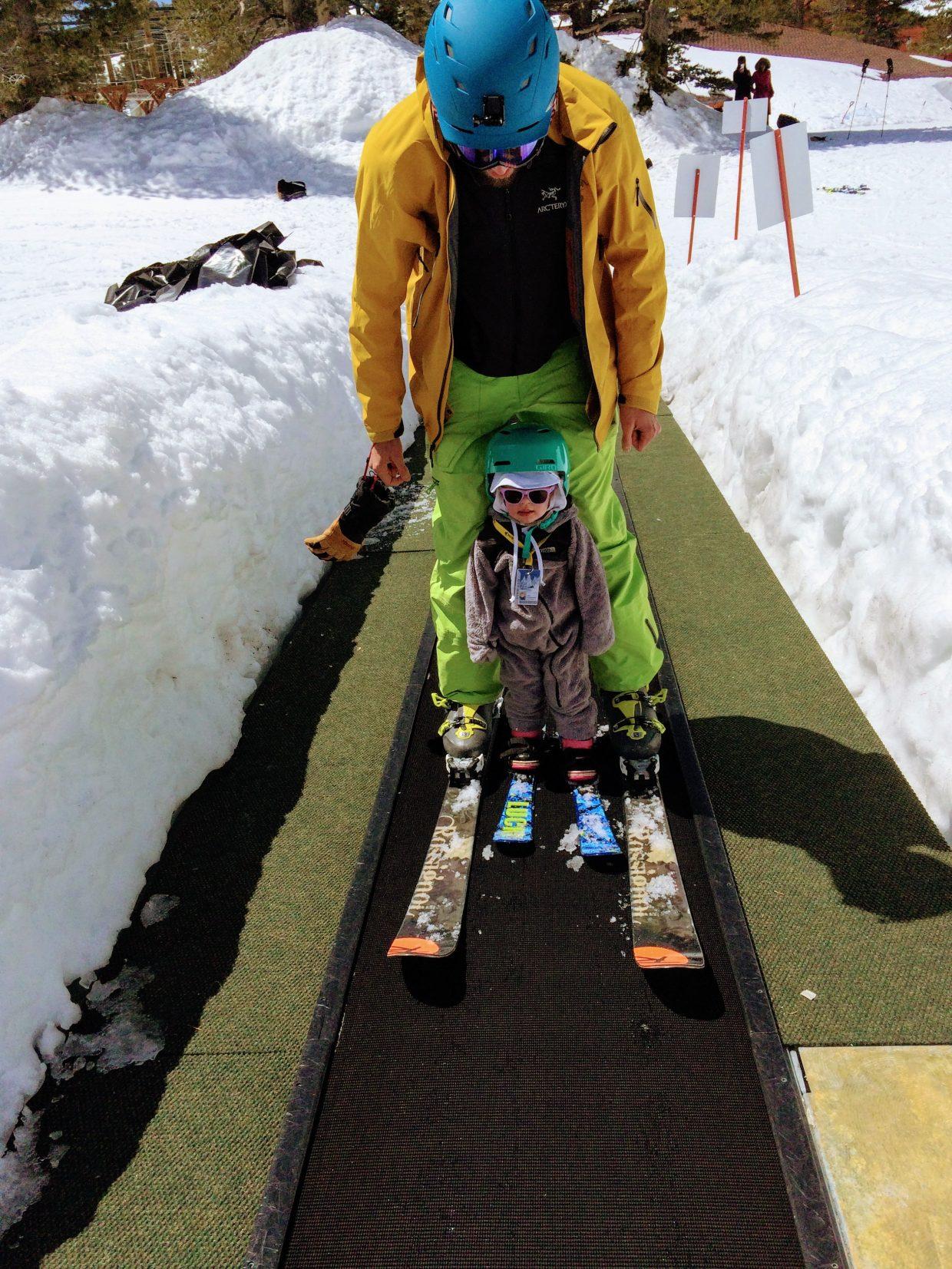 Toddler ski heavenly
