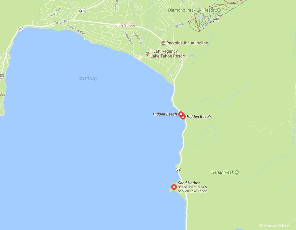 Hidden Beach Map Tahoe