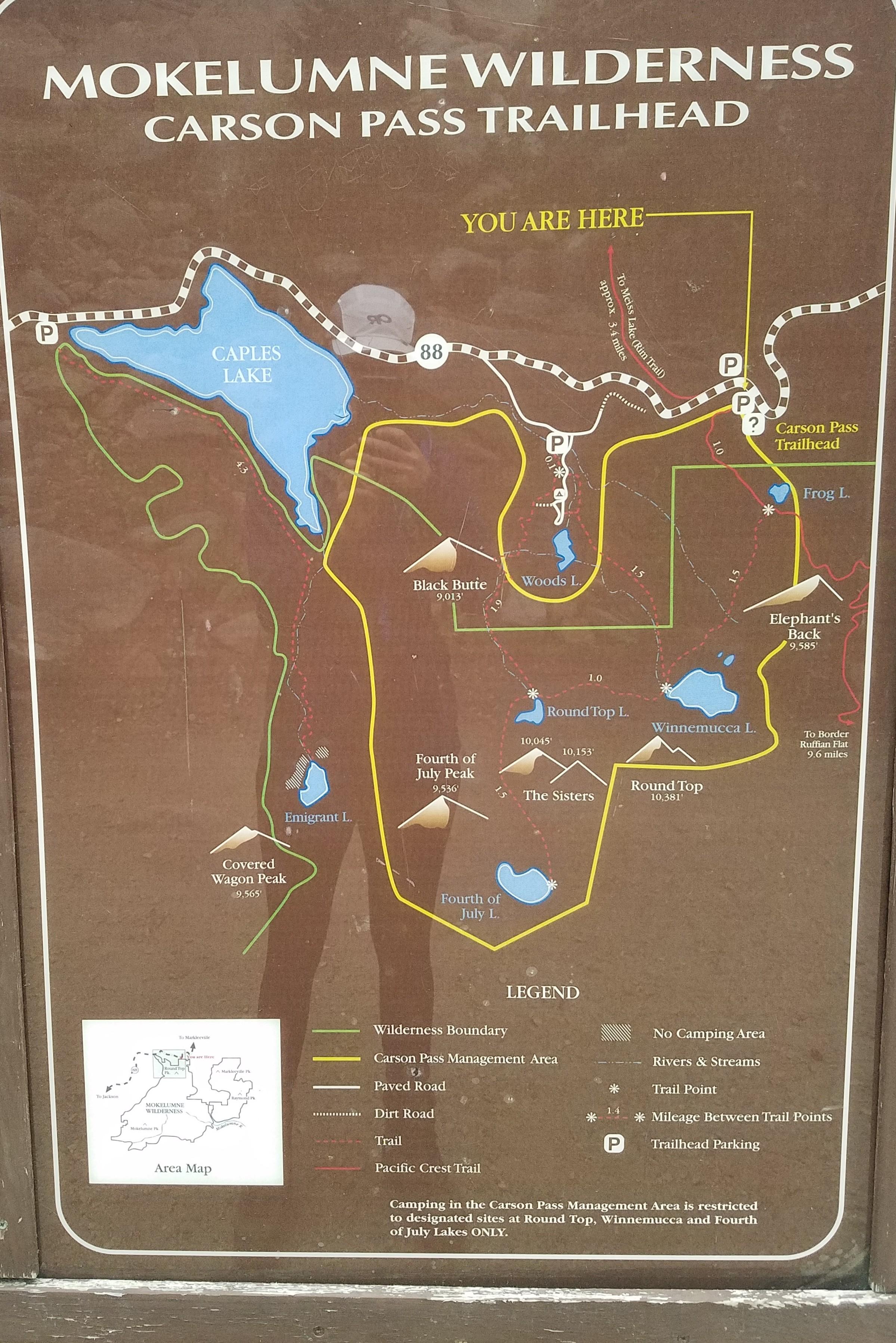 winnemucca lake trail map